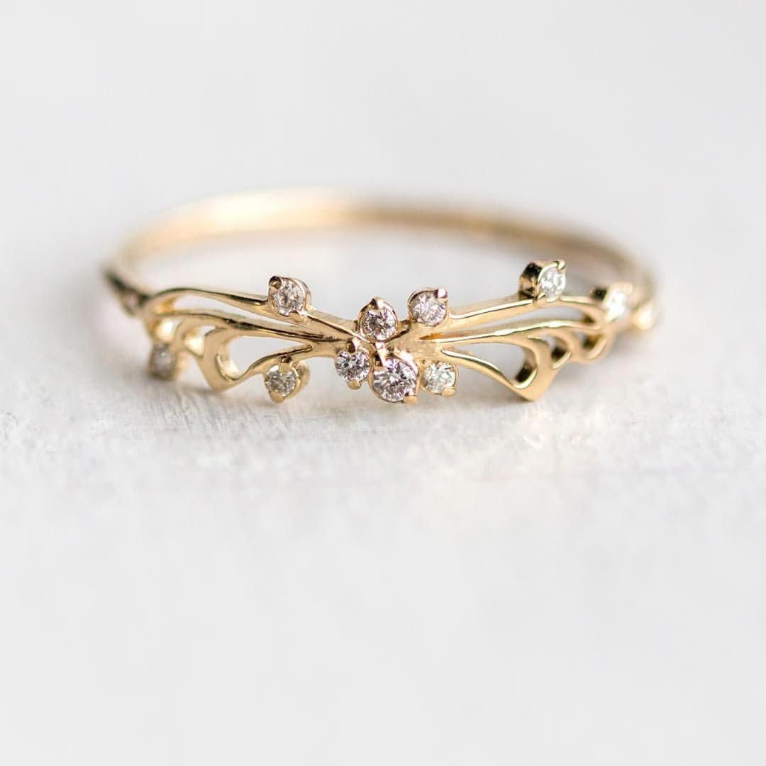 084cf3ee959 Our butterfly inspired diamond Small Changes rings are back in stock in 14k  yellow