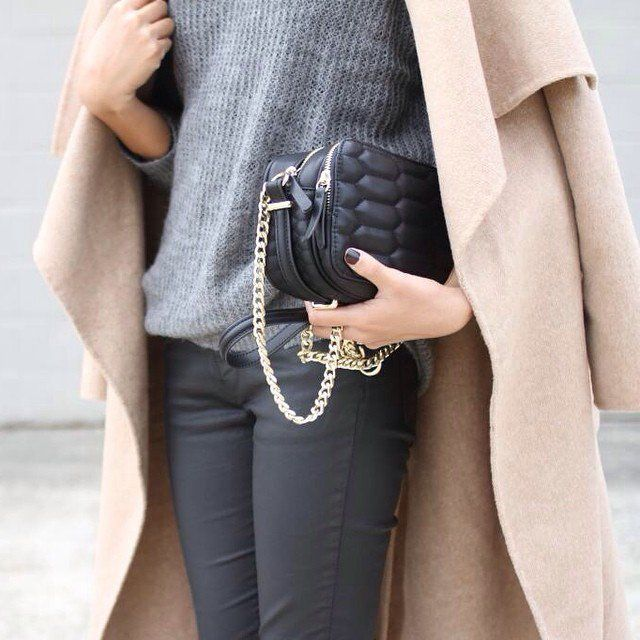 "Pin for Later: ""Groutfits"" Are the Chic Casual Trend You Never Saw Coming  Layering your groutfit with a camel trench coat is a contemporary contrast."
