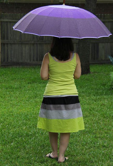 created blissfully: Skirt Week - Color Block Skirt