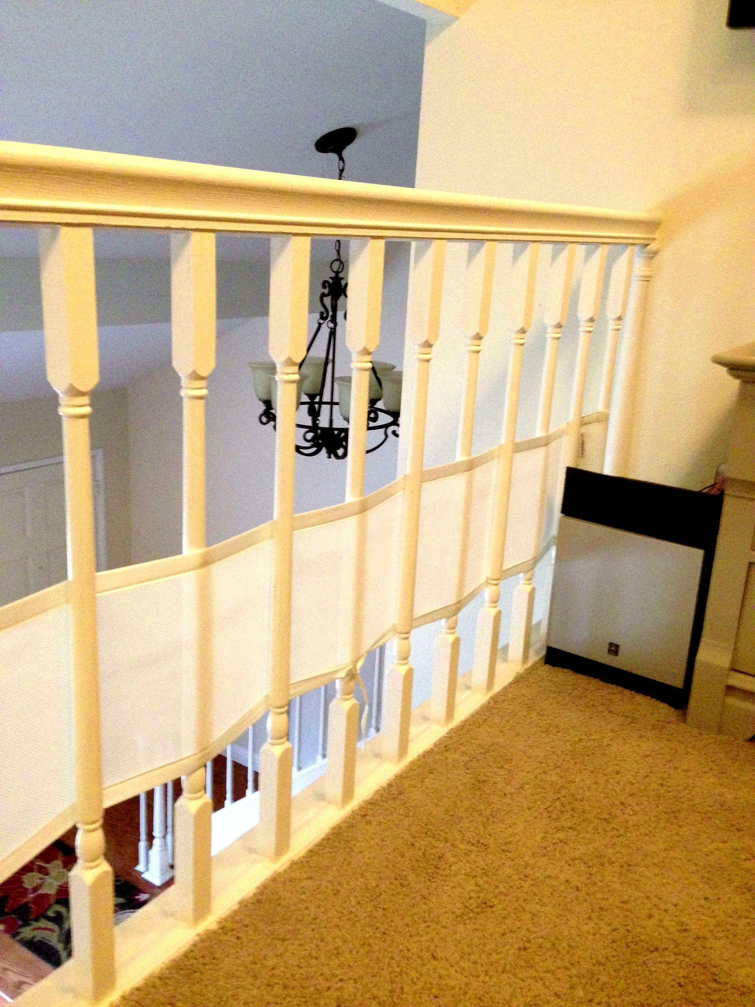 Repurpose breathable crib bumpers. Wide railing. Crib
