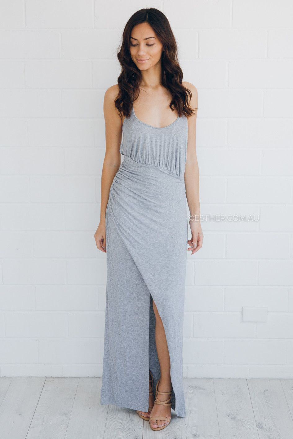 stylestalker oblivion maxi dress - grey - sale   Esther clothing ...