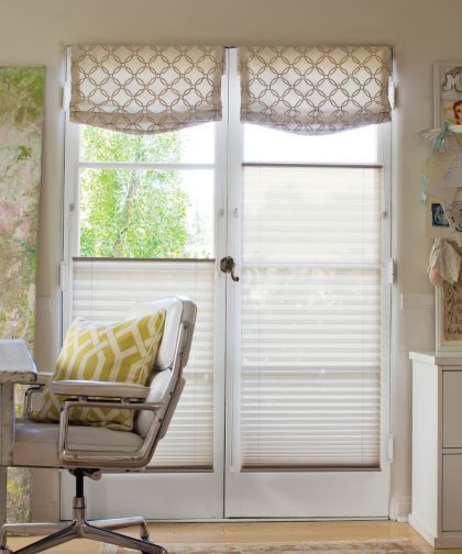 Classic 1 Quot Pleated Shades Color Linen Ivory 14076 Relaxed