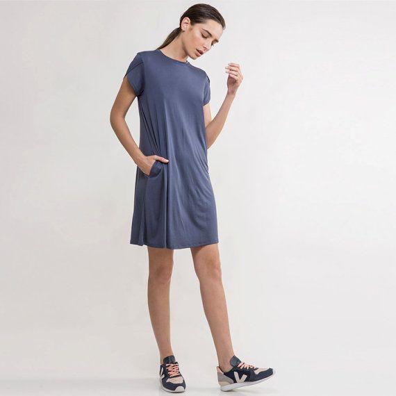 Summer Outfits: blue knit dress,summer Dress,blue summer dress,blue ...