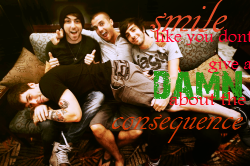 """""""Smile like you don't give a damn about the consequence""""  All Time Low - We Say Summer"""