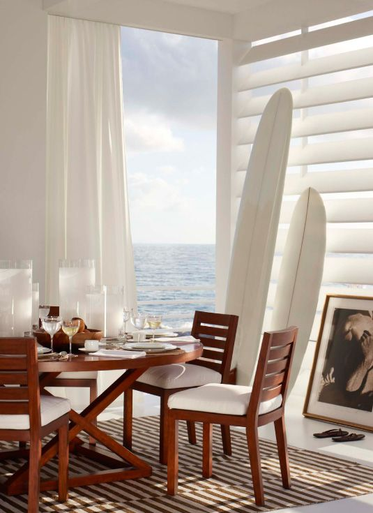 Ralph Lauren Jamaica Modern Dining Chair & Table, Roderick ... on luxe home interiors, victoria beckham house interiors, andrew carnegie house interiors, bill gates house interiors, private island house interiors, celine dion house interiors,