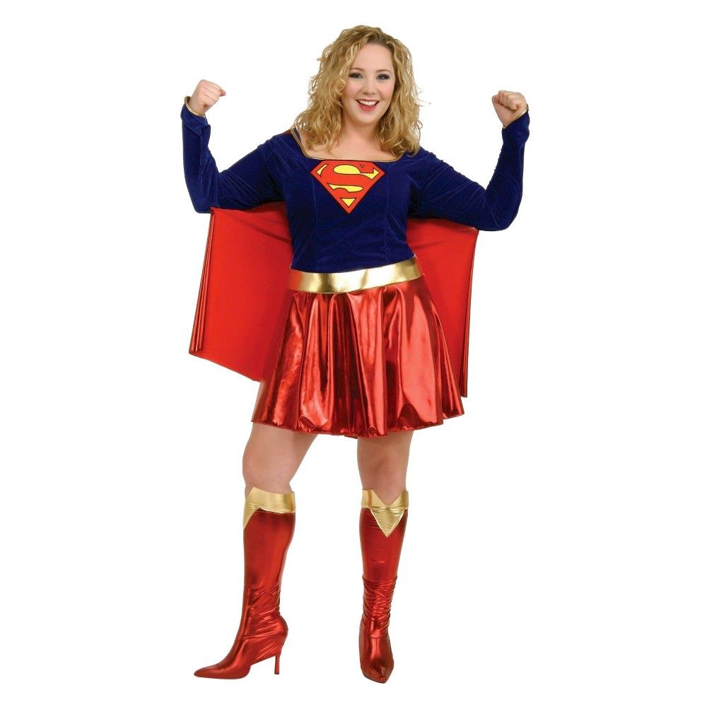 DC Comics Supergirl Women's Adult Costume X-Large, Size: Xl, Red
