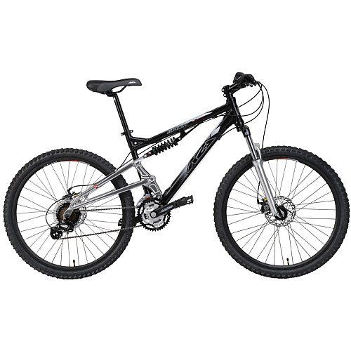 K2 Base Sport Full Suspension Mountain Bike Black Silver Medium