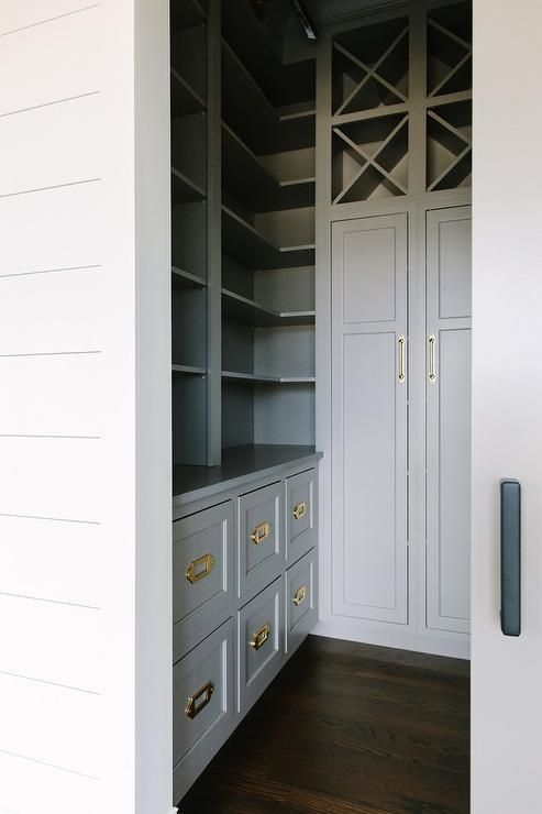 Best Stunning Gray Butler Pantry Is Fitted With Gray Built In 640 x 480
