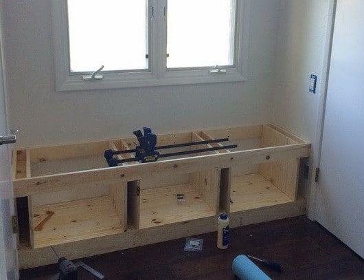 Diy Wooden Window Bench Seat With Storage Diy Storage Bench