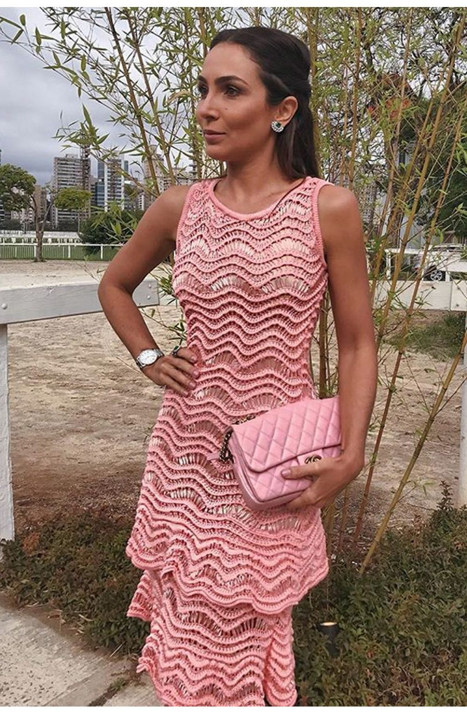 Vestido Tricot Lola Rosa | Galeria Tricot - Galeria Tricot | crochet ...