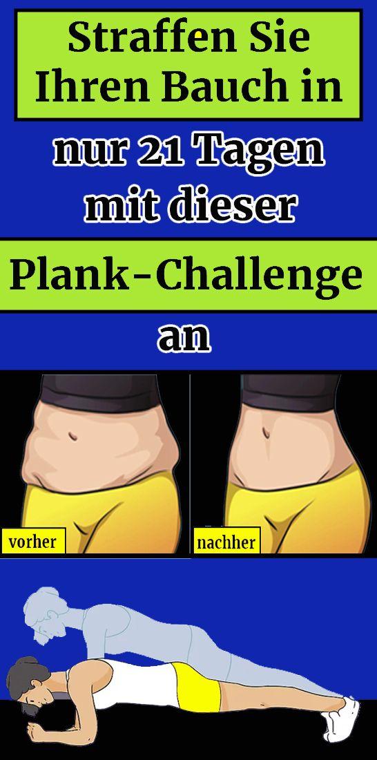 Straffen Sie Ihren Bauch in nur 21 Tagen mit dieser Plank-Challenge an #abchallenge