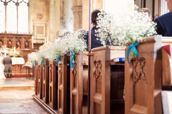 Wedding Baby Breath Gypsophila Pew Ends http://www.kerryannduffy.com/