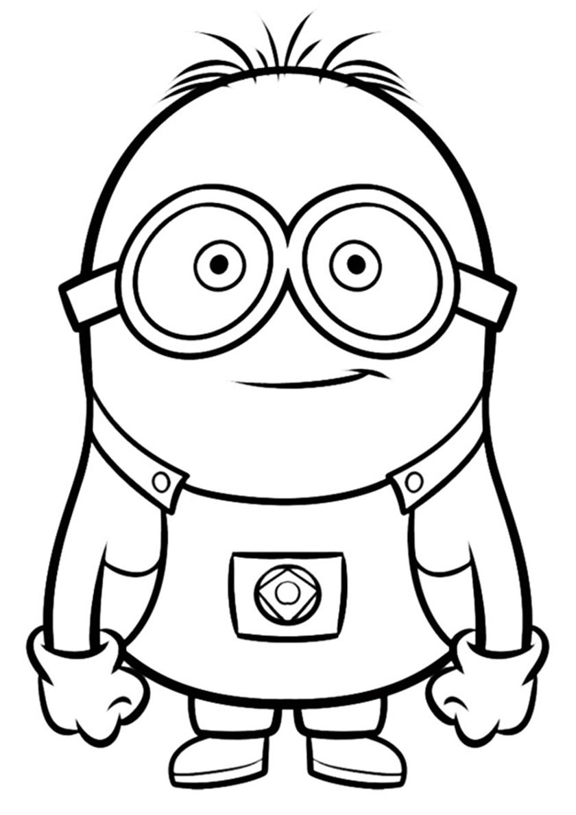 Funny Minion High Quality Free Coloring Page From The Category Minions More Printable Pictures On Our Website Kleurplaten Kleurplaten Voor Kinderen Minions