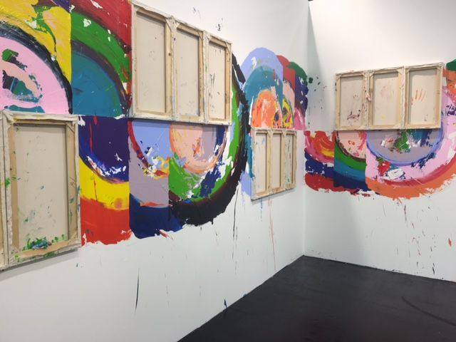 446c6ea81d4f Richard Jackson created a temporary site-specific wall painting for Art  Cologne. Photo  Hili Perlson.