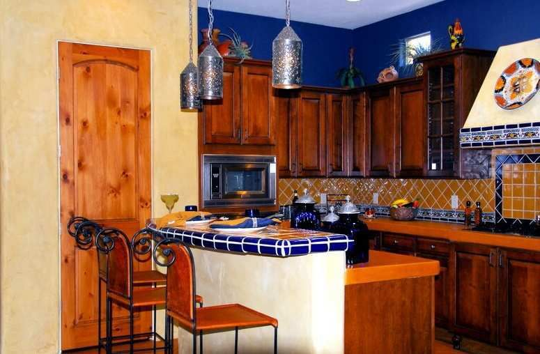 mexican style kitchen decorating ideas for small kitchen and blue rh pinterest co uk