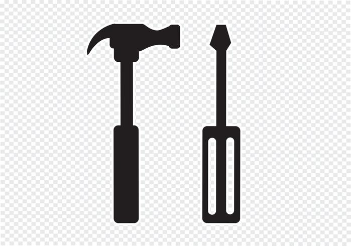 Tools And Hammer Icon Vector Icons Free Free Vector Illustration Vector