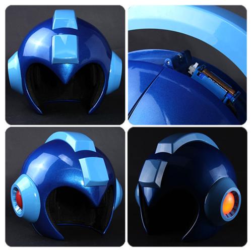 Mega Man Wearable Helmet Prop Replica Replica Prop Mega Man Mega Man Art