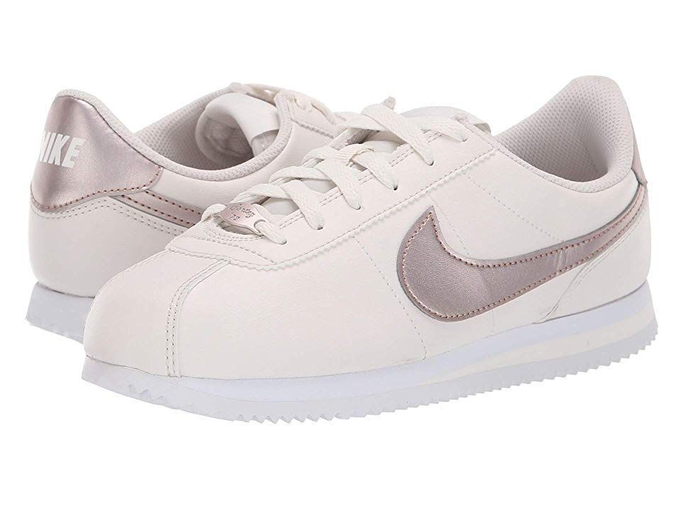 online store 7997d 28e10 Nike Kids Cortez Basic SL (Big Kid) Girls Shoes Phantom Metallic Red Bronze  White