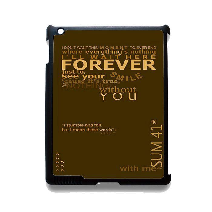 Sum 41 Lyrics TATUM-10241 Apple Phonecase Cover For Ipad 2/3/4, Ipad Mini 2/3/4, Ipad Air, Ipad Air 2