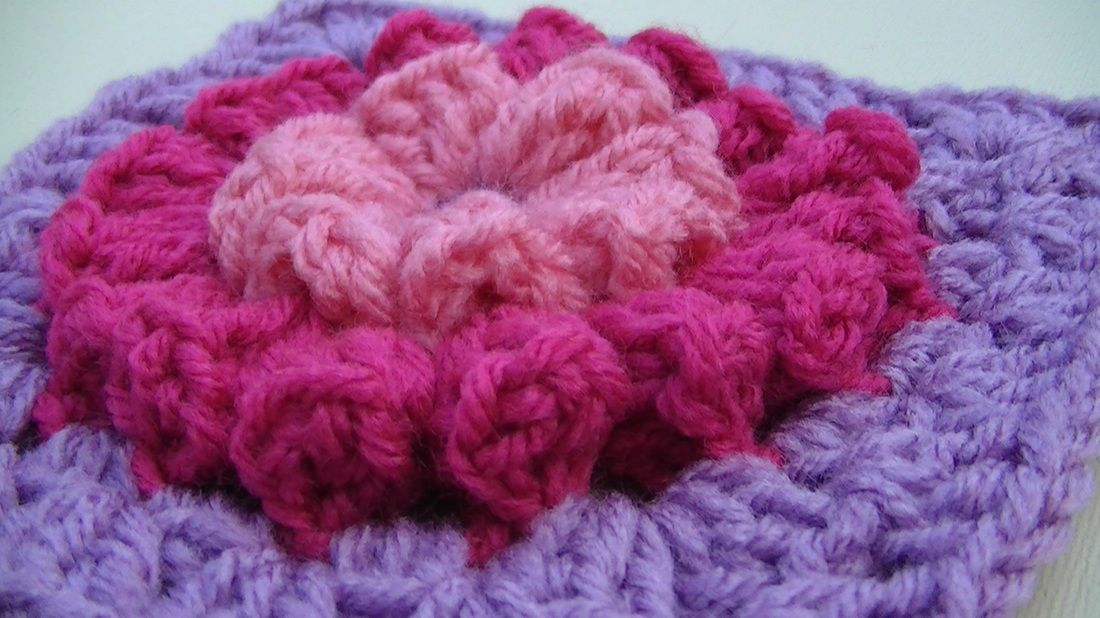 Popcorn Stitch Granny Square Free Pattern And Video From