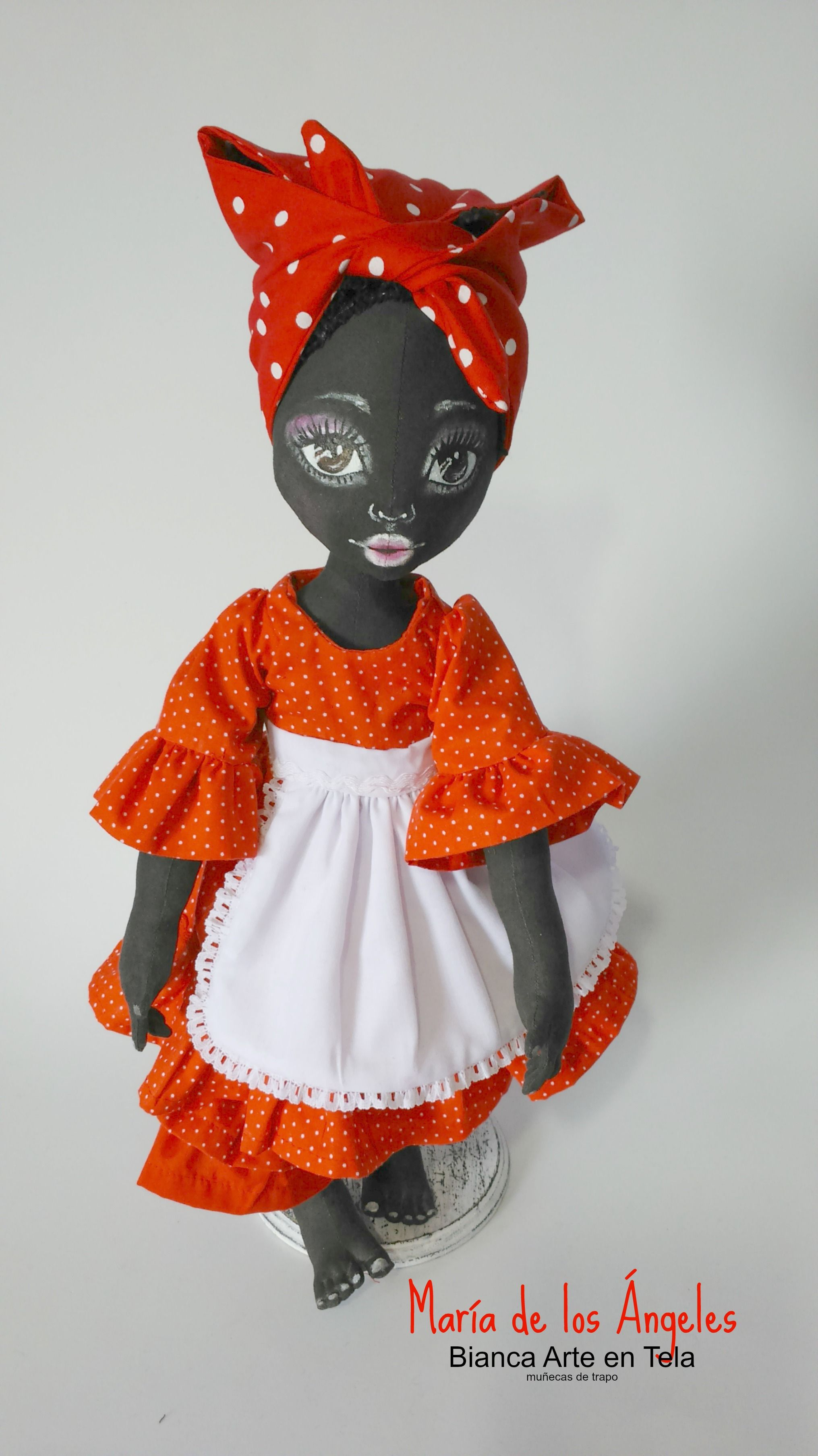 ADORABLE | Muñequita Negrita de Trapo | Pinterest