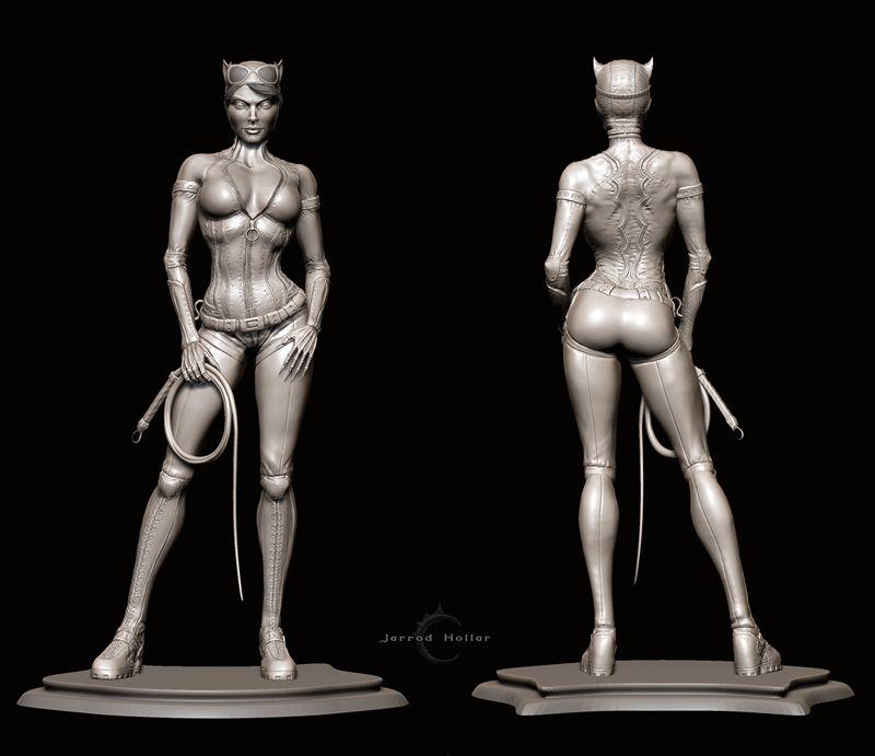 Catwoman Zbrush Sculpt | 3D Anatomy Ref | Pinterest