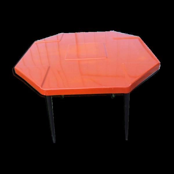 Table orange vintage des années 70   – Products