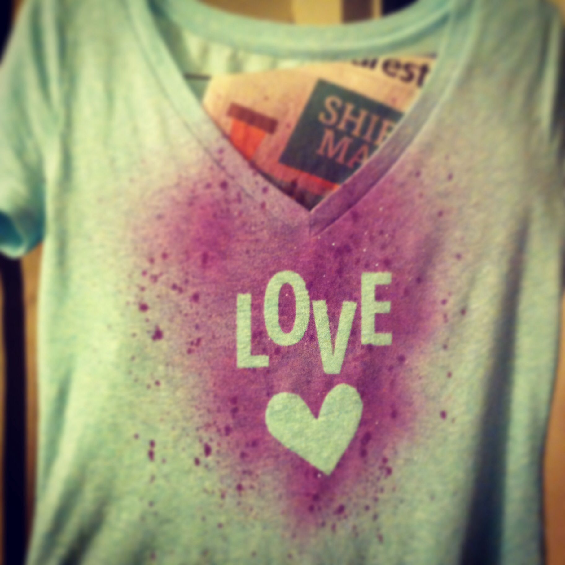 Superior Tulip Fabric Spray Paint Ideas Part - 13: DIY T-shirt Upcycle Using Tulip Fabric Spray Paints. Worked Perfectly And  Turned Out
