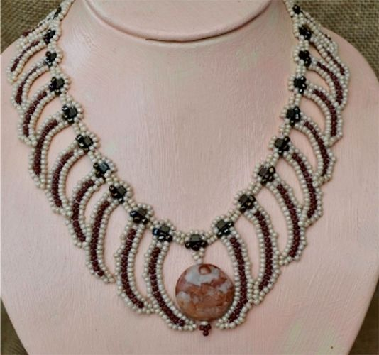 African Ivory Beaded Necklace Pattern BeadPatternscom