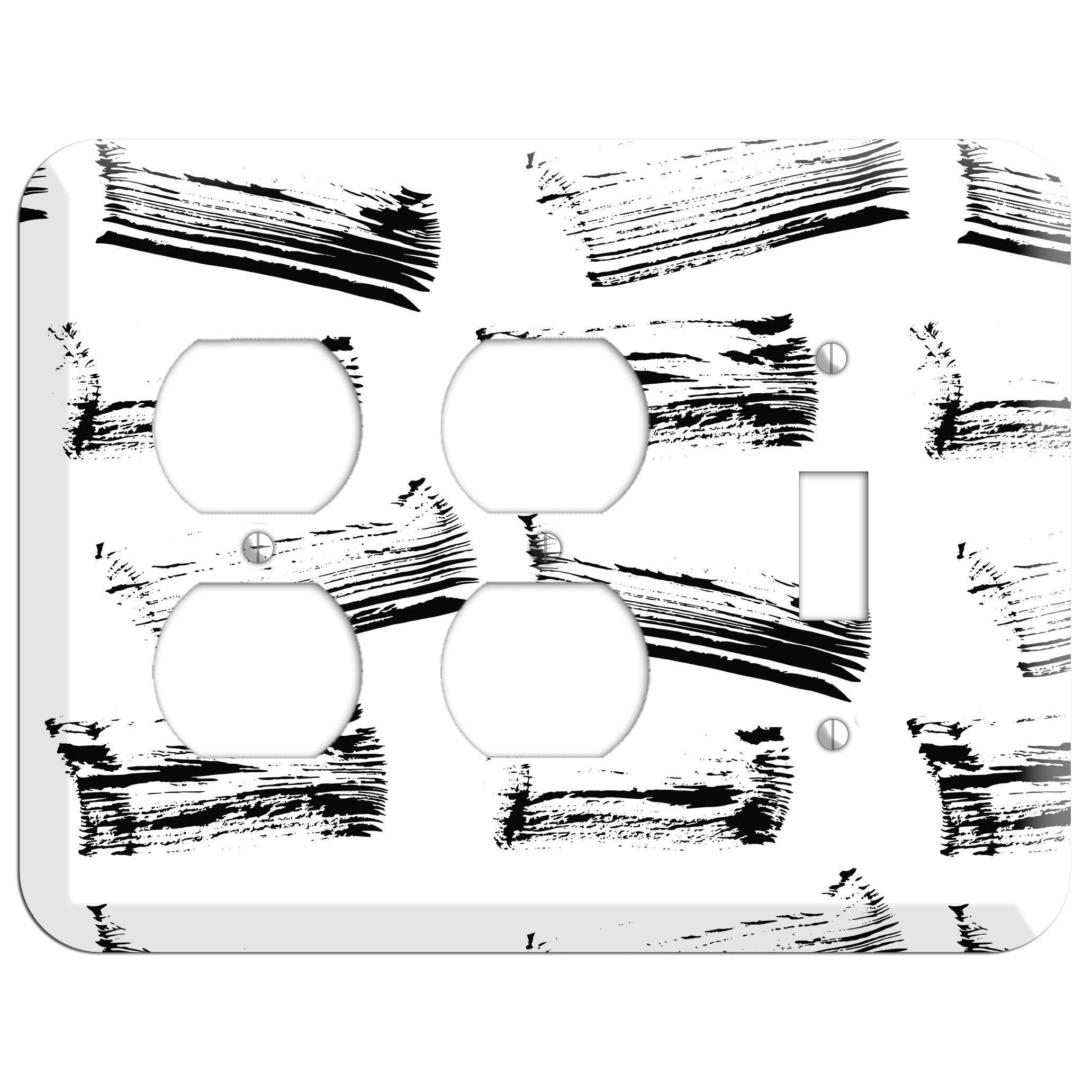 Ink Brushstrokes 1 2 Duplex / Toggle Wallplate