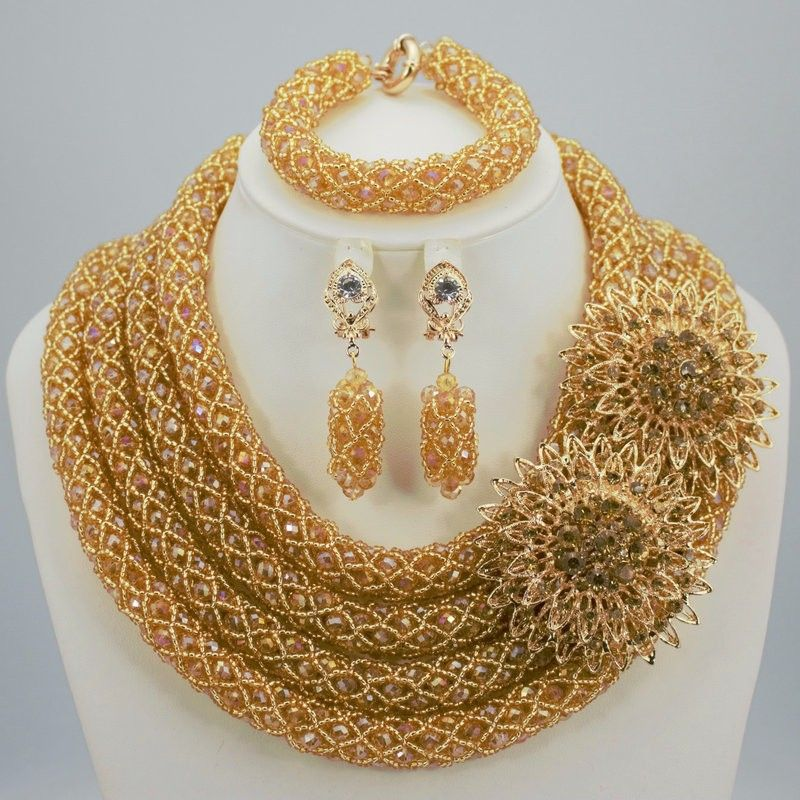 nigeria african beads jewelry set ladies african beads for wedding   party 68d17a0c2a3d