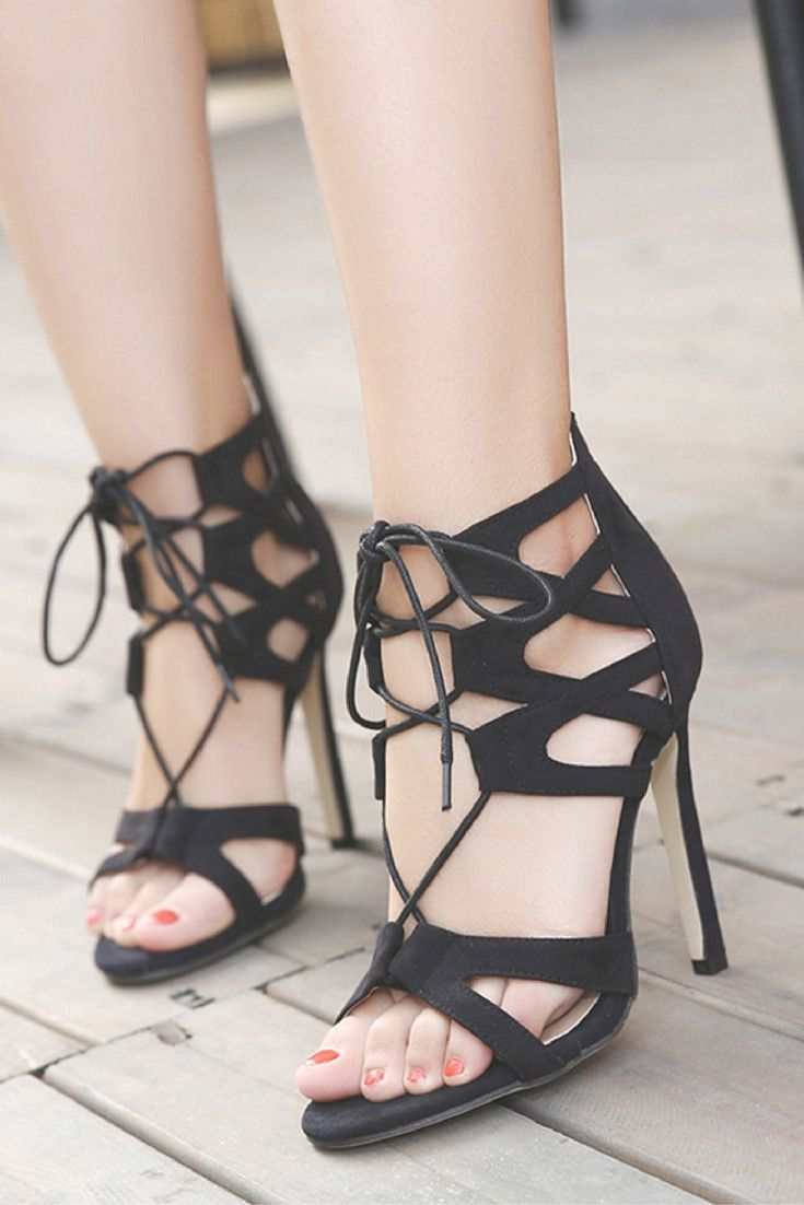Criss-Cross Gladiator Heel