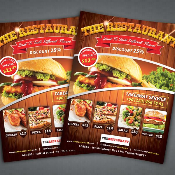 food flyers design - Onwebioinnovate - food flyer template