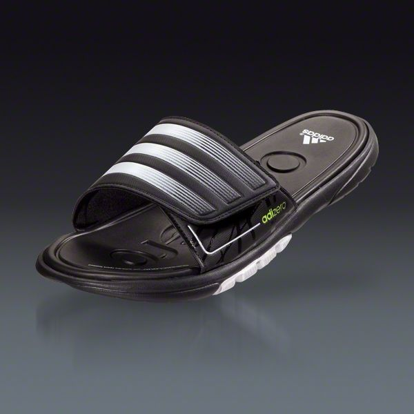 adidas adiZero Slide 2 SC - Black White Metallic Silver Sandals -- for  Anna 42a508e02b14