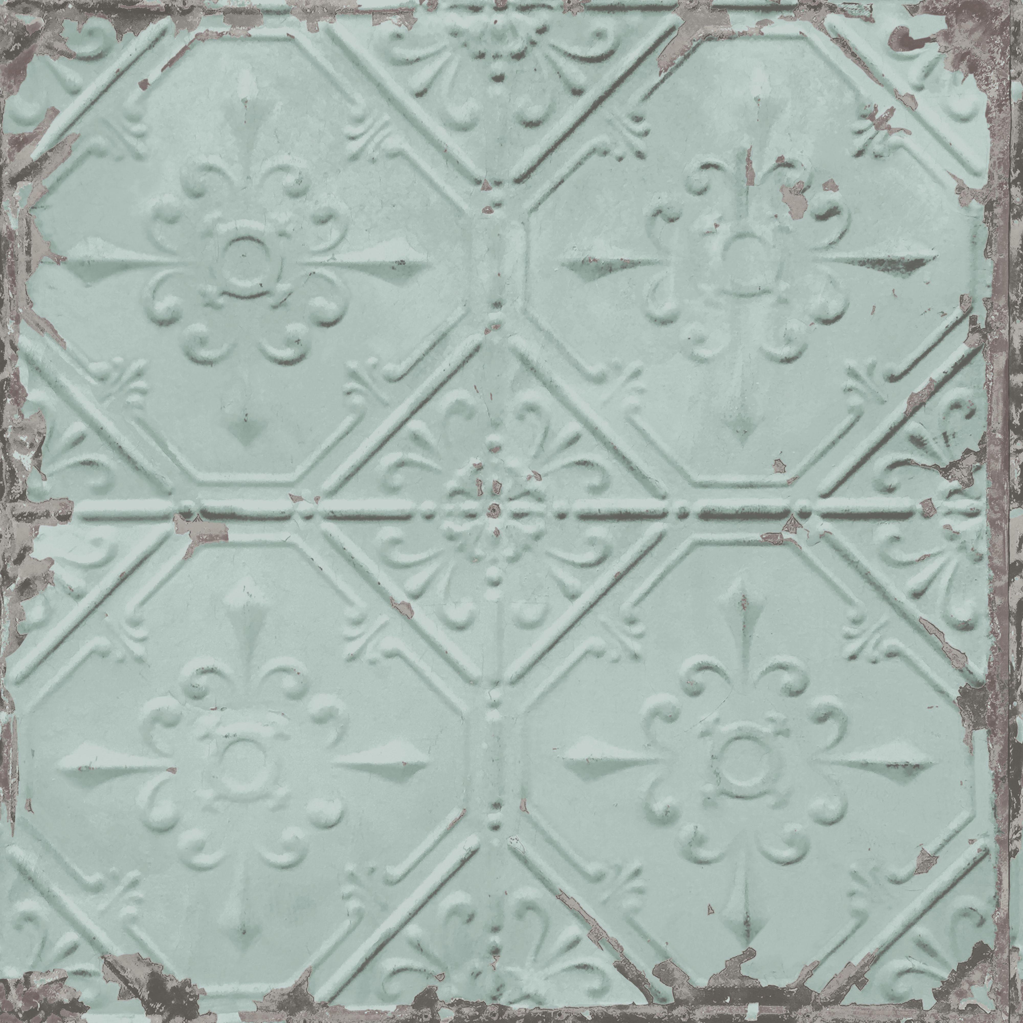 BQ Duck Egg Conversational Metallic Wallpaper Paste Paper L