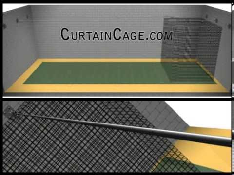 Indoor Batting Cage Kit (Sliding Batting Cages / CurtainCage ...