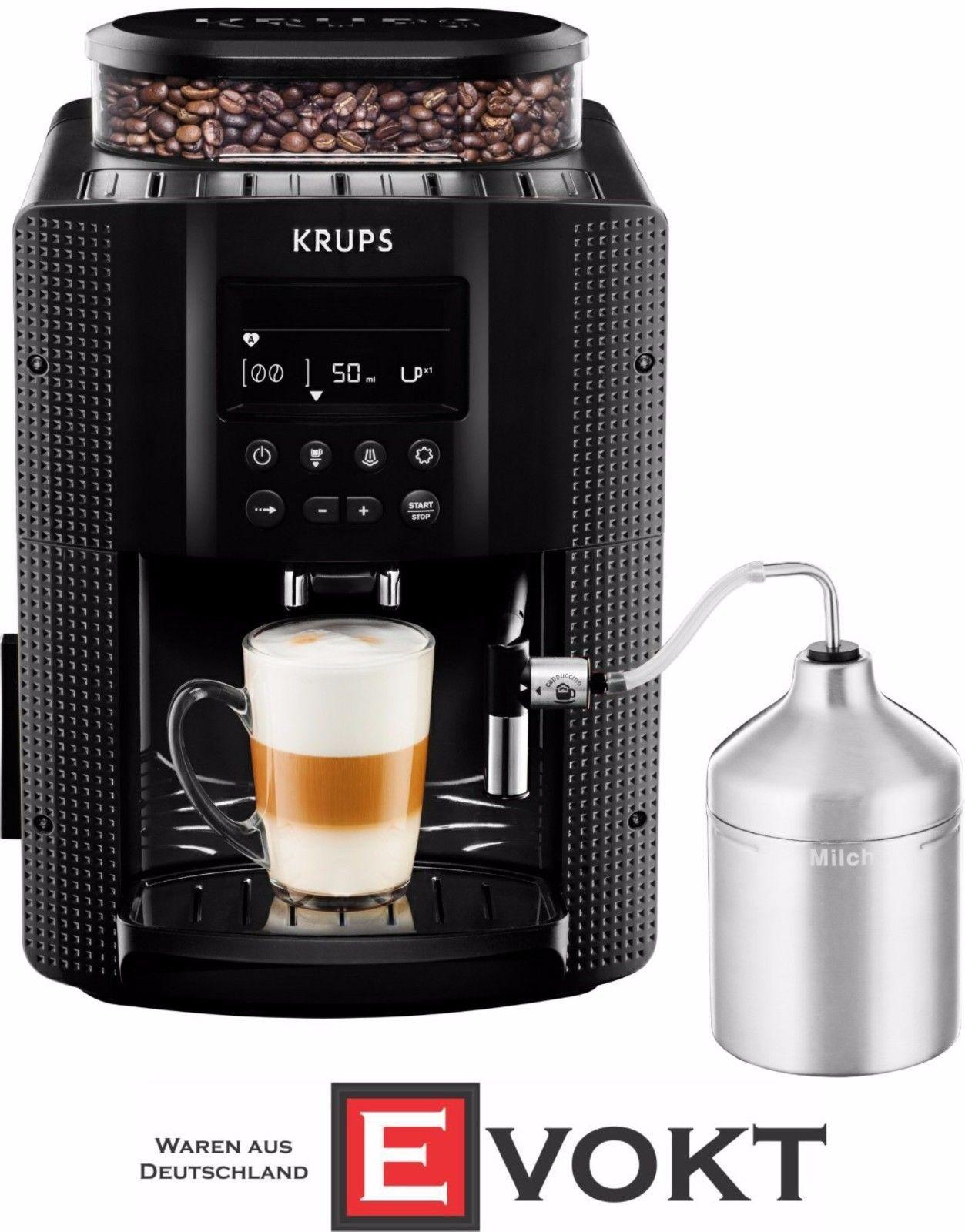 Krups Ea8160 Fully Automatic Espresso Machine Black 1450w Genuine New 10942218647 Ebay Espresso Coffee Coffee Maker Coffee Machine