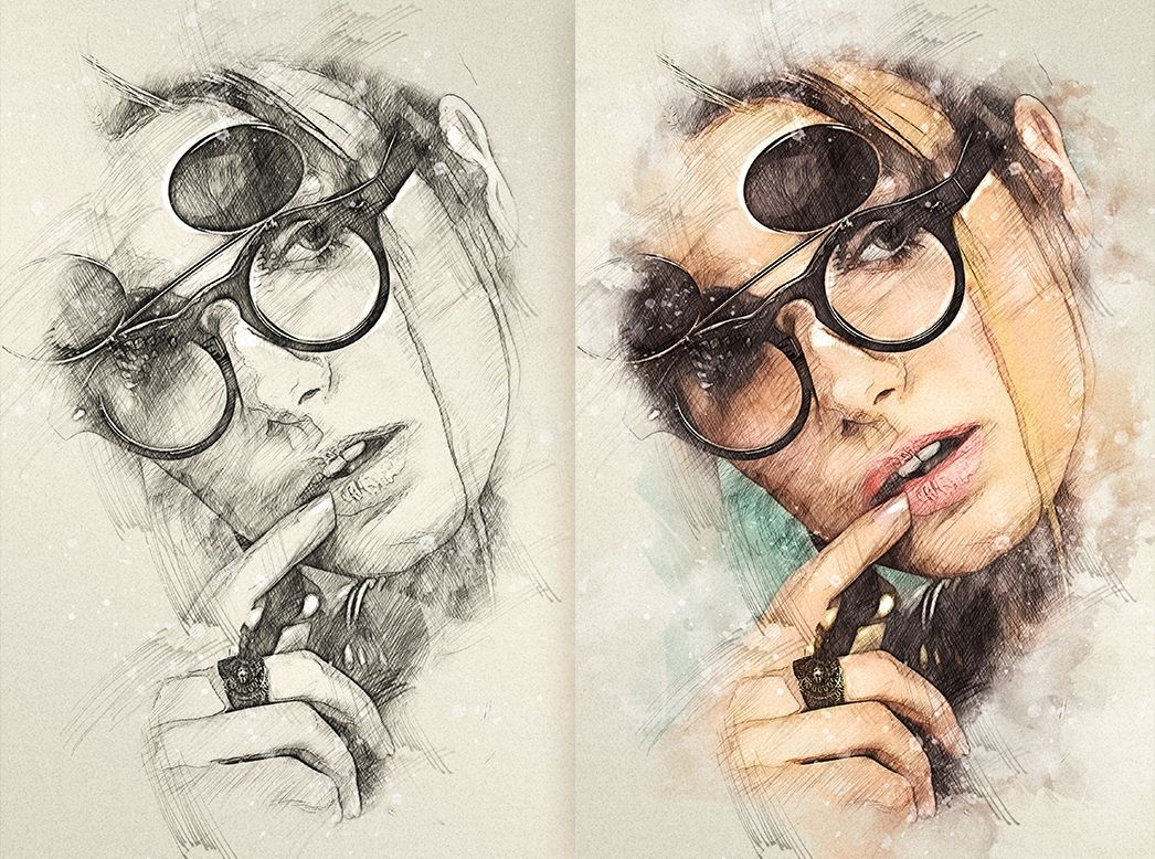 Quick Sketch Photoshop Action in 2020 | Sketch photoshop ...