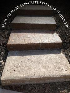 inexpensive diy concrete steps tutorial shells pinterest