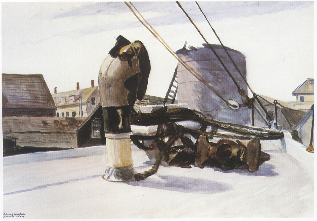 Hopper - Bow of a Beam Trawler, 1924