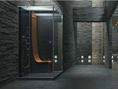 Box doccia multifunzione rettangolare con bagno turco Ωmega