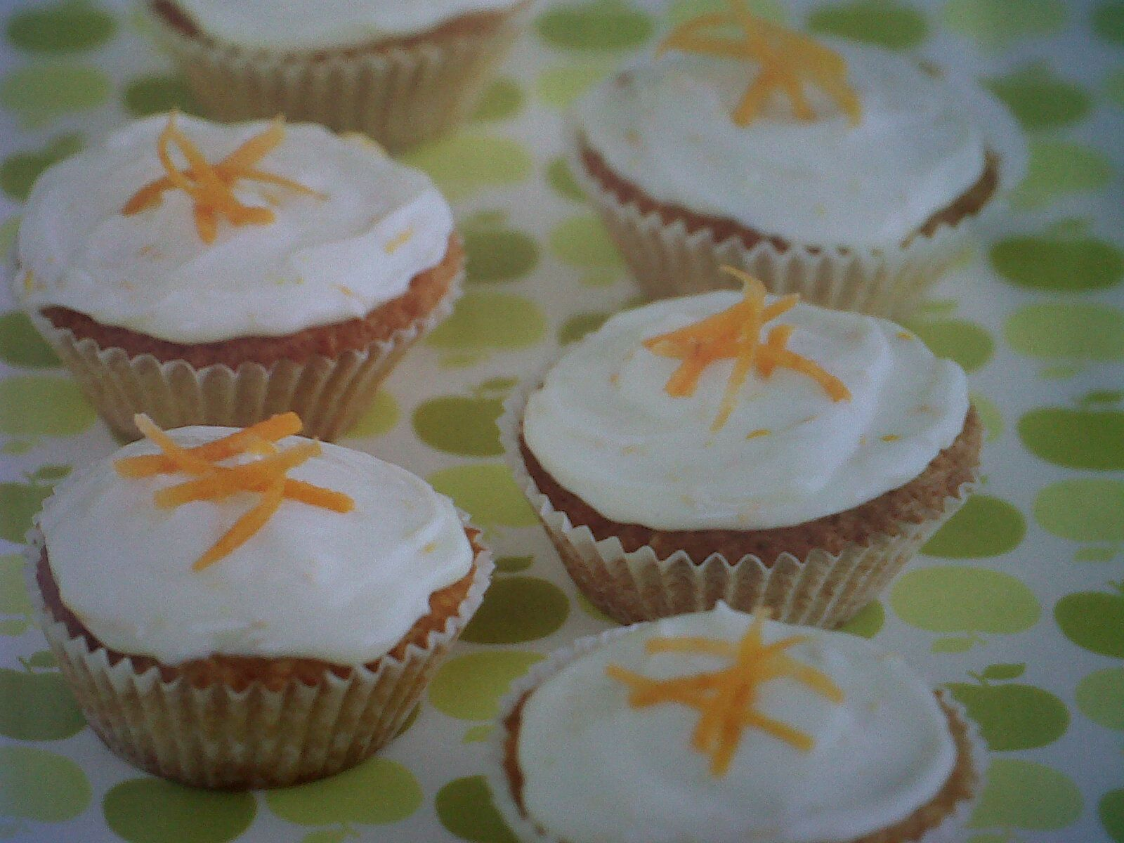 Carrot cupcakes featured in the childrens baking book