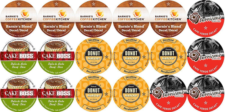 Decaffeinated coffee single cup coffee variety sampler