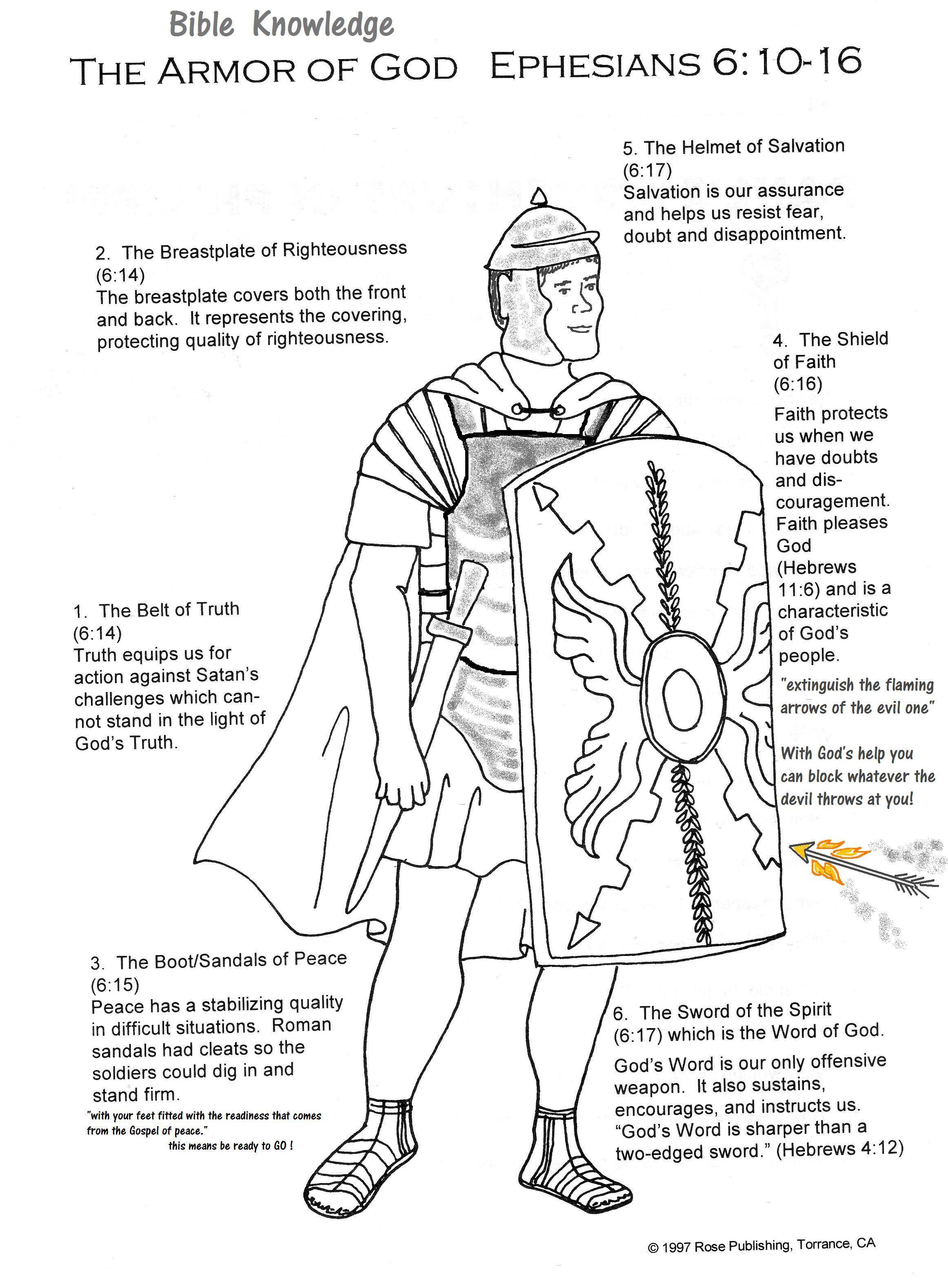 Full Armor Of God Handout