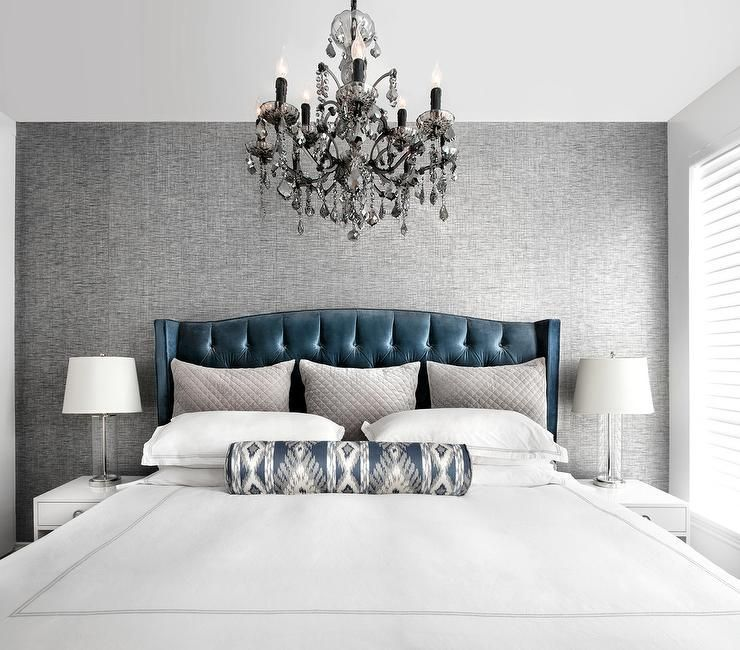 Black And White Rooms With Bold Pops Of Color Design Matters Grey Bedroom With Pop Of Color White Rooms Upholstered Bed Master Bedroom