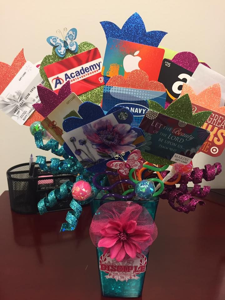 This gift card bouquet as a great group gift for a teacher this gift card bouquet as a great group gift for a teacher trainer family member teen easter gift or anyone else for that matter negle Image collections
