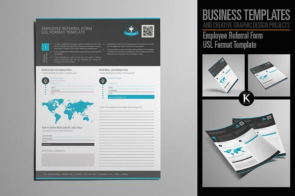 Employee Referral Form Usl Format By Keboto On Creativemarket