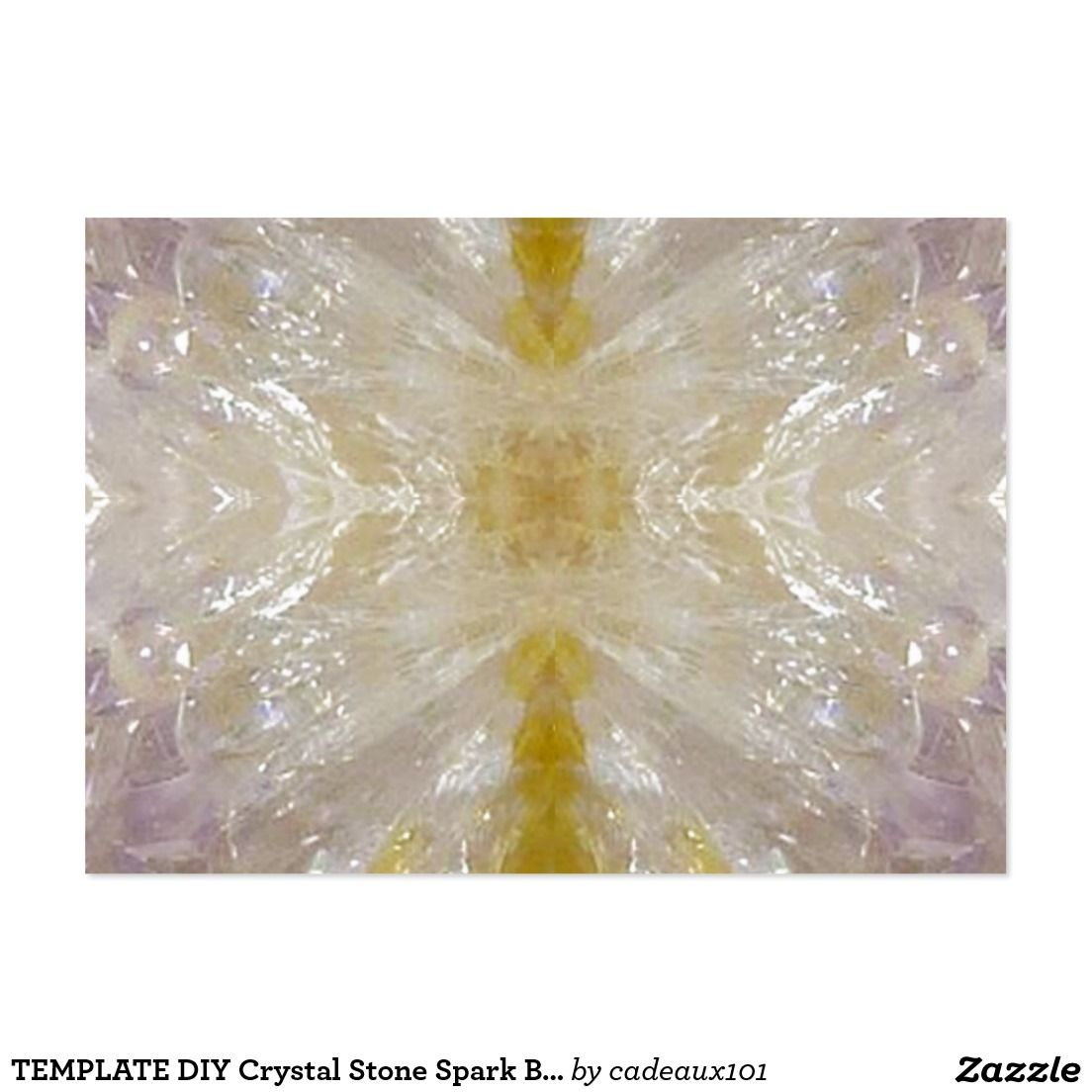 TEMPLATE DIY Crystal Stone Spark Background Print Large Business ...