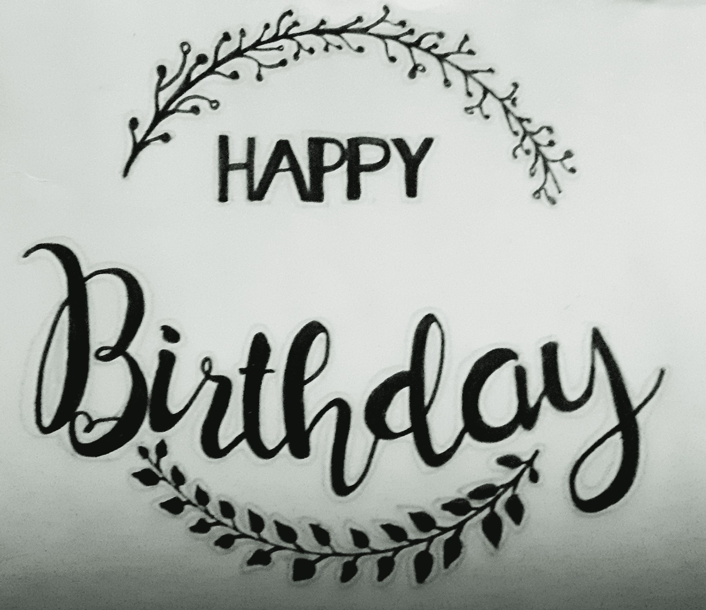 Happy Birthday Kaligrafi Jenis Huruf Tulisan Huruf Tulisan