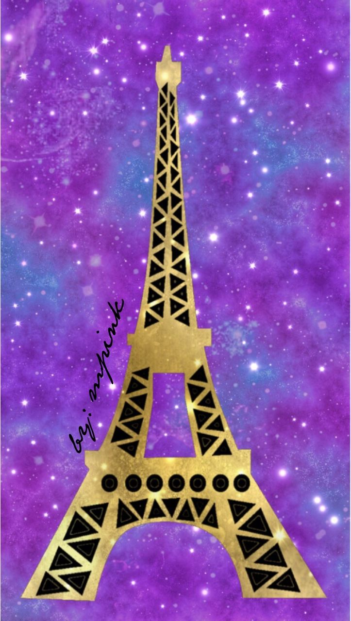 © 2016 Eiffel Tower Galaxy iPhone/Android Wallpaper